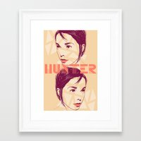 bjork Framed Art Prints featuring Bjork by Isabel Arenas