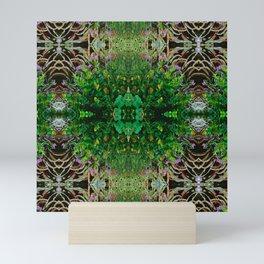 Cocoplum and Cattails op nature pattern Mini Art Print