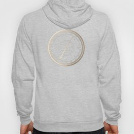 Gold Compass on White Hoody