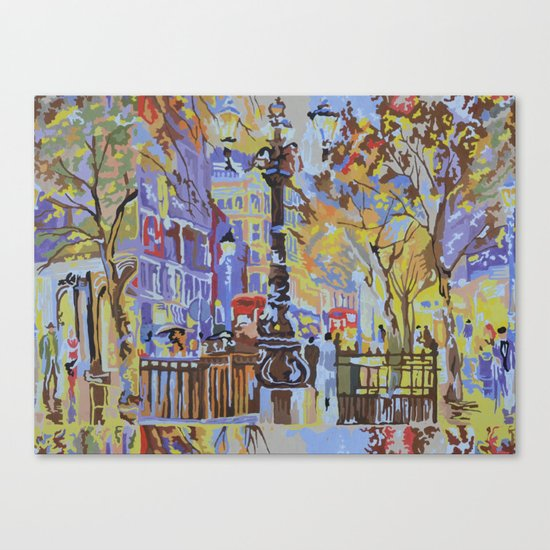 paint by numbers pattern Canvas Print