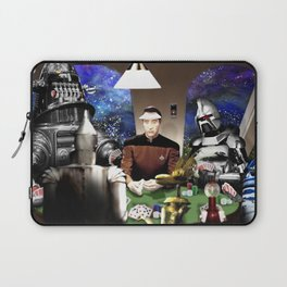 Droids Playing Poker Laptop Sleeve