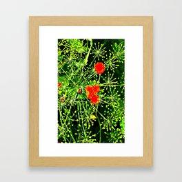 Neon floral burst of energy Framed Art Print