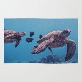 Sea Turtles In The Deep Rug