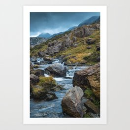 River in the Mountains II Art Print