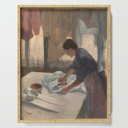 Woman Ironing Serving Tray