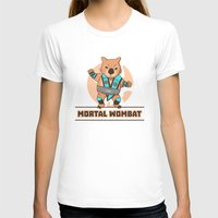 the mortal instruments T-shirts featuring Mortal Wombat by Sombras Blancas Art & Design