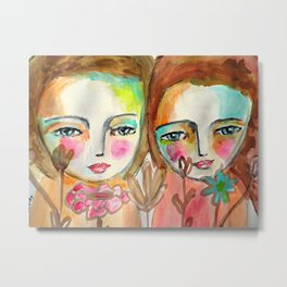 2 girls Metal Print