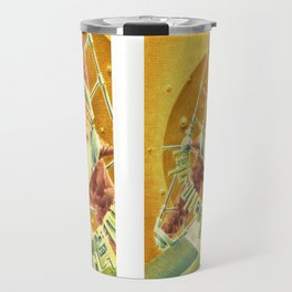 """Portrait with headset"" Notebook Travel Mug"