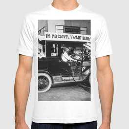 Vintage I'm No Camel - We Want Beer - Repeal Prohibition black and white photograph / photographs  T-shirt