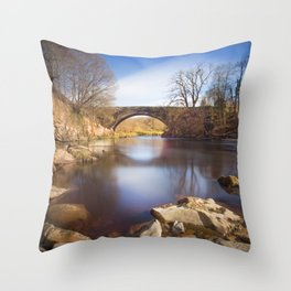 Riverside view Throw Pillow