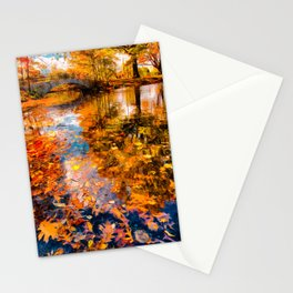 Boston Fall Foliage Reflection Stationery Cards