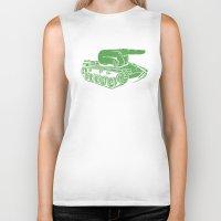 gears of war Biker Tanks featuring @#$% WAR! by Madkobra