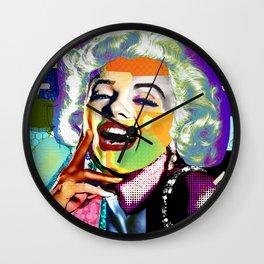 Marilyn Portrait Pop Art Collage - Monroe Wall Clock