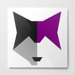 Asexual pride wolf Metal Print