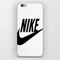 nike iPhone & iPod Skins featuring NIKE by I Love Decor