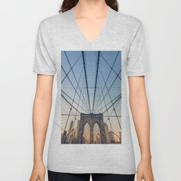 Brooklyn Bridge New York City Unisex V-Neck