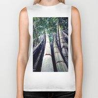 bamboo Biker Tanks featuring bamboo by Dinesh