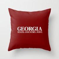 georgia Throw Pillows featuring Georgia by The Cracked Dispensary