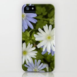 Purple and White Flowers iPhone Case