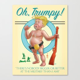 """Oh, Trumpy!"" — Military Quote 1 Canvas Print"