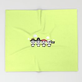 Panda Pirates Crew T-Shirt for all Ages Dt4v1 Throw Blanket
