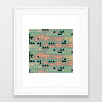triangles Framed Art Prints featuring triangles by spinL