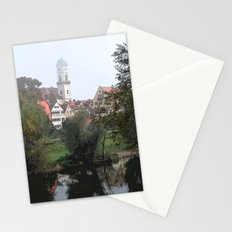 Quaint Buildings Near the Water Stationery Cards