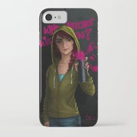 watchmen iPhone & iPod Cases featuring But who watches the watchmen? by Hiyas de Guzman