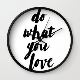 Quote print, Love, Scandinavian, Wall Art, Minimal, Modern Wall Clock