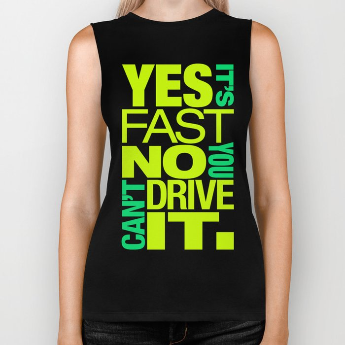 Yes it's fast No you can't drive it v7 HQvector Biker Tank