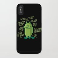 android iPhone & iPod Cases featuring PARANOID ANDROID by Letter_q