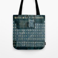 periodic table Tote Bags featuring periodic table of elements by Bekim ART