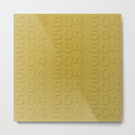 Gold 504 Metal Print