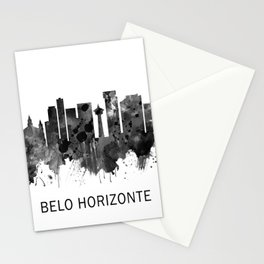 Belo Horizonte Brazil Skyline BW Stationery Cards