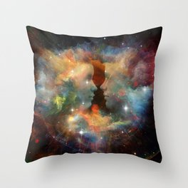 mood of the beginning Throw Pillow