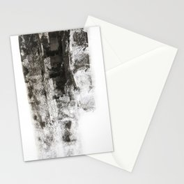 Black roller strokes Stationery Cards