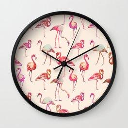 Flamingo Happiness Wall Clock