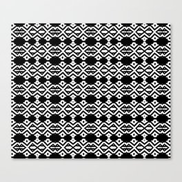 Arrows and Diamond Black and White Pattern 2 Canvas Print
