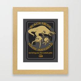 Black Mesa Rare Imports Framed Art Print