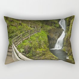 Waterfall in the Glenariff Forest Park in Northern Ireland Rectangular Pillow