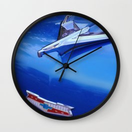 Blue Bel Air Hood Ornament Wall Clock