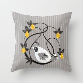 twirly bird Throw Pillow