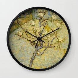 Small Pear Tree in Blossom Wall Clock