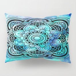 Galaxy Mandala Aqua Indigo Pillow Sham