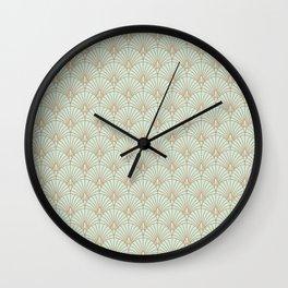 Art Deco fan pattern Wall Clock