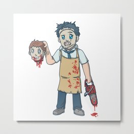 K-Leatherface Metal Print