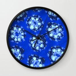 Blue Nevada Rose Wall Clock