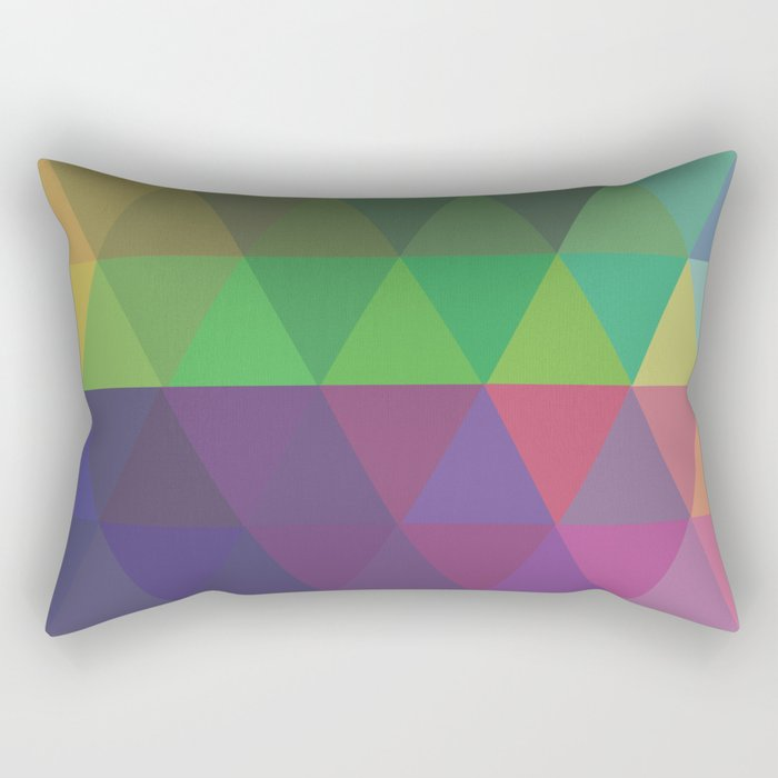Colors Just Colors Rectangular Pillow