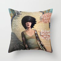 rock Throw Pillows featuring Rock the Casbah by Rudy Faber