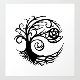 Pentacle Tree Art Print